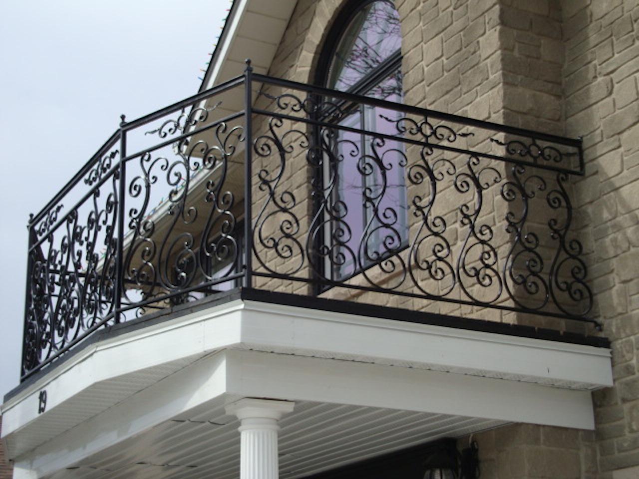 Balconies authentic ironworks